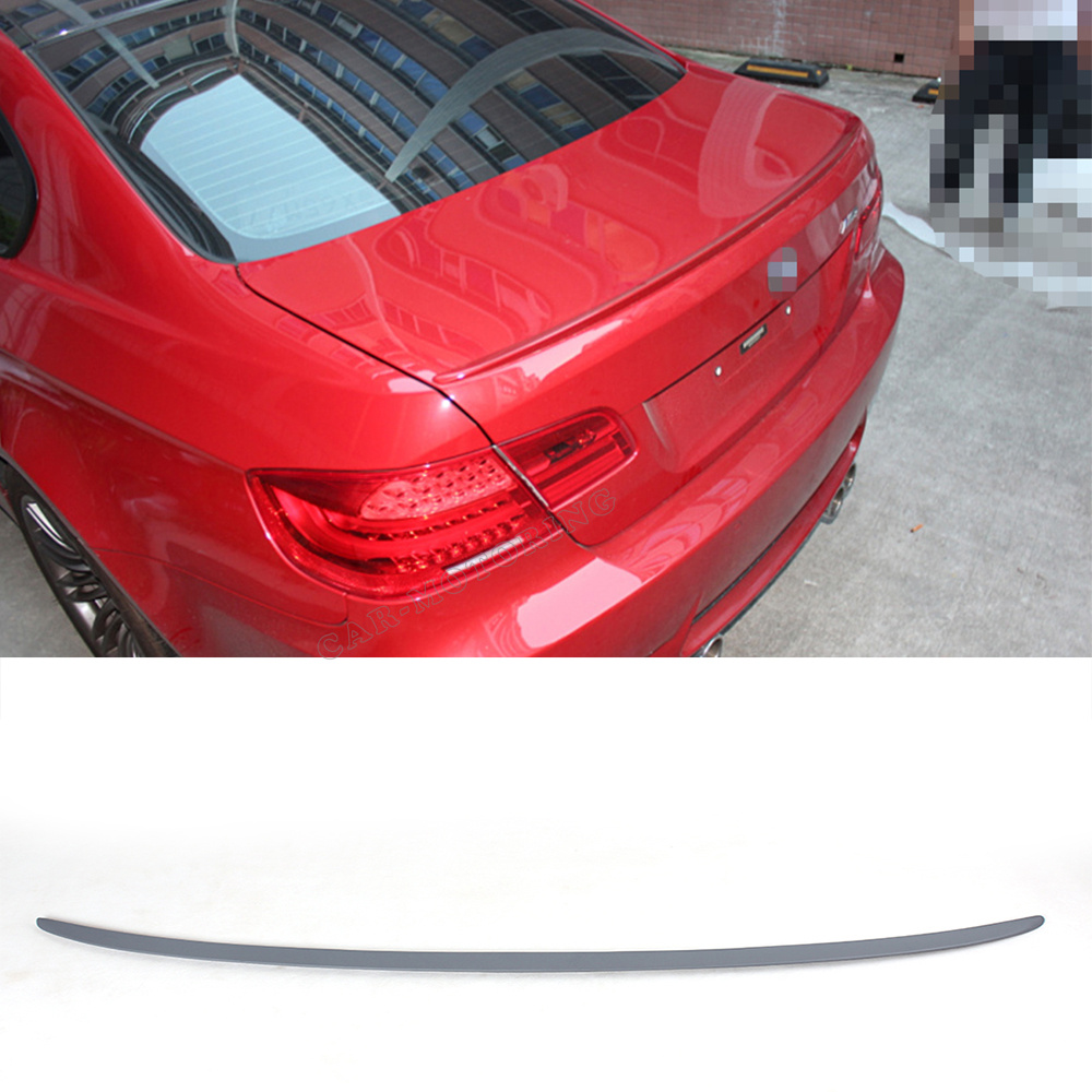 PU unpainted grey primer E92 3 Series Coupe M3 Style Trunk Racing Spoiler For BMW E92 2007-2012