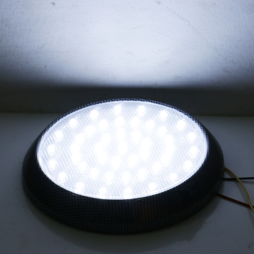 Replacement White DC12V 46-LED Car Vehicle Interior Roof Ceiling Dome Light Round Lamp