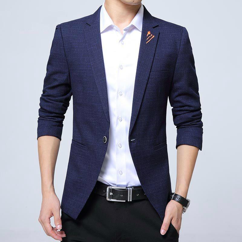 2014 Fashion Men Casual 1 Cotton Jackets Male Slim Fit
