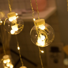 108 LED Globe Festoon Party Ball string light outdoor led Christmas Lights Connectable fairy light wedding garden party garland