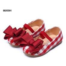 Детская обувь; модная повседневная обувь в клетку для девочек; обувь для маленьких детей; цвет черный, красный; прогулочная обувь для девочек; резиновая обувь принцессы;