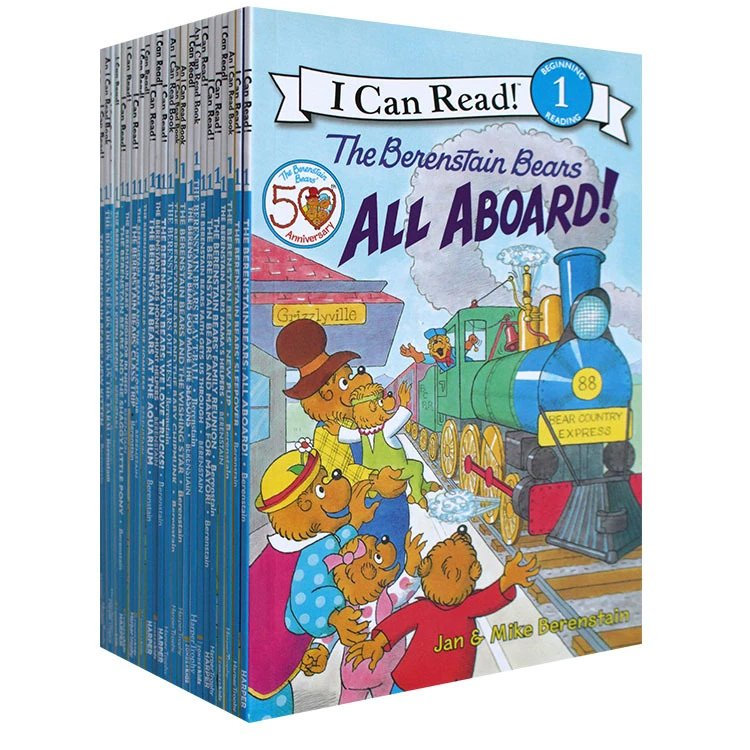 25 권의 책/세트 나는 파닉스 책을 읽을 수있다 나의 첫번째 berenstain 곰 아이들을위한 영어 그림 이야기 책 아이들 독서 책의  그룹 1