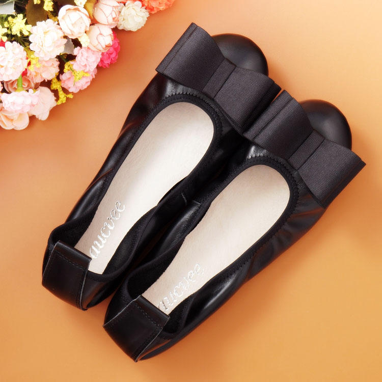 Spring and Autumn Flats for font b Women b font Flat heel Shoes Fashion bowknot Flats