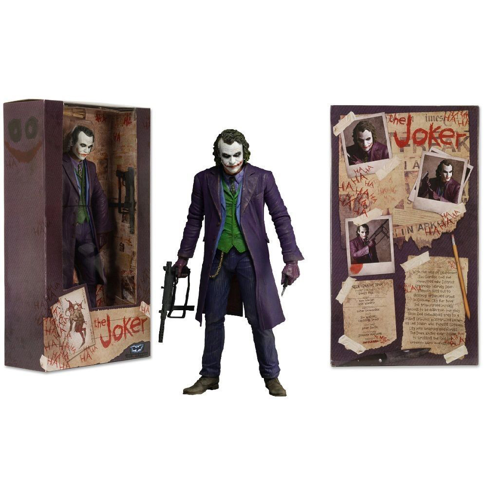 18cm THE JOKER HEATH LEDGER DC COMICS Action Figure Model 7