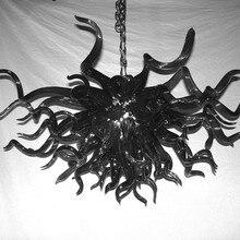 Черный цвет, темные вечерние люстры для Хэллоуина в стиле Муранского Искусства, подвесной светильник из стекла для декора виллы, бара