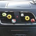 Cute little cartoon logo Men and women car perfume Car styling Sun flower Ornaments Automobile air conditioner perfume clip