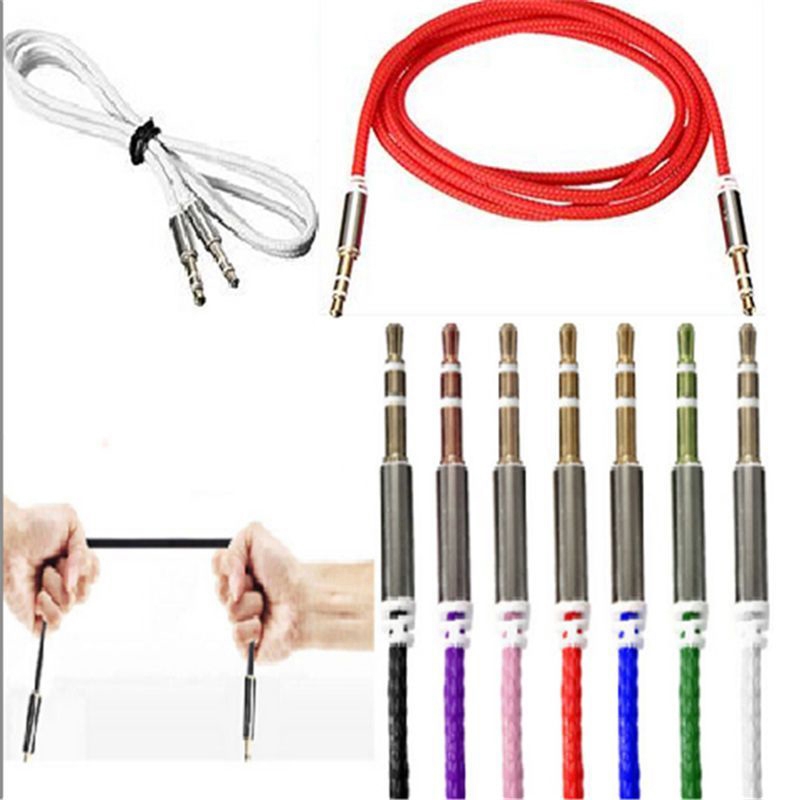 Aux Cable Male to Male Audio Cable 1M Car Audio 3.5mm Jack Plug Male To Male AUX Cable For Headphone MP3 iPod