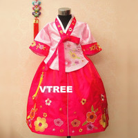 Children S Costumes Of Minority Korean Clothing Children S Stage Clothing Costumes Dancing Girls Hanbok