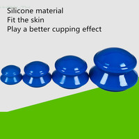 4Pcs Moisture Absorber Anti Cellulite Vacuum Cupping Cup Silicone Family Facial Body Massage Therapy Cupping Cup