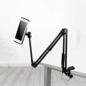 Image 5 - ARVIN regulowany tablet uchwyt stojak na Ipad Air Mini Pro 3.5 10.6 Cal elastyczne obrotowe krzesło łóżko pulpit do montażu na iPhone