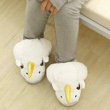 Women Indoor Home Slippers White Unicorn Plush Cotton Winter Warm Slippers Cartoon Cute Slip On Adult Size  Licorne Christmas