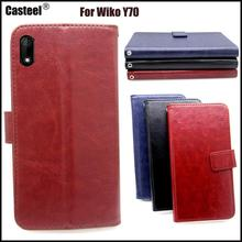 Casteel Classic Flight Series high quality PU skin leather case For Wiko Y70 Case Cover Shield