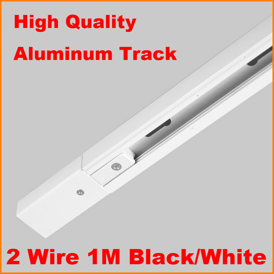 aliexpress com   buy dhl 1m 2 wire single circuit aluminium track light rail lighting tracks