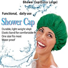 Waterproof Shower Cap For Women Vinyl Extra Large Breathable