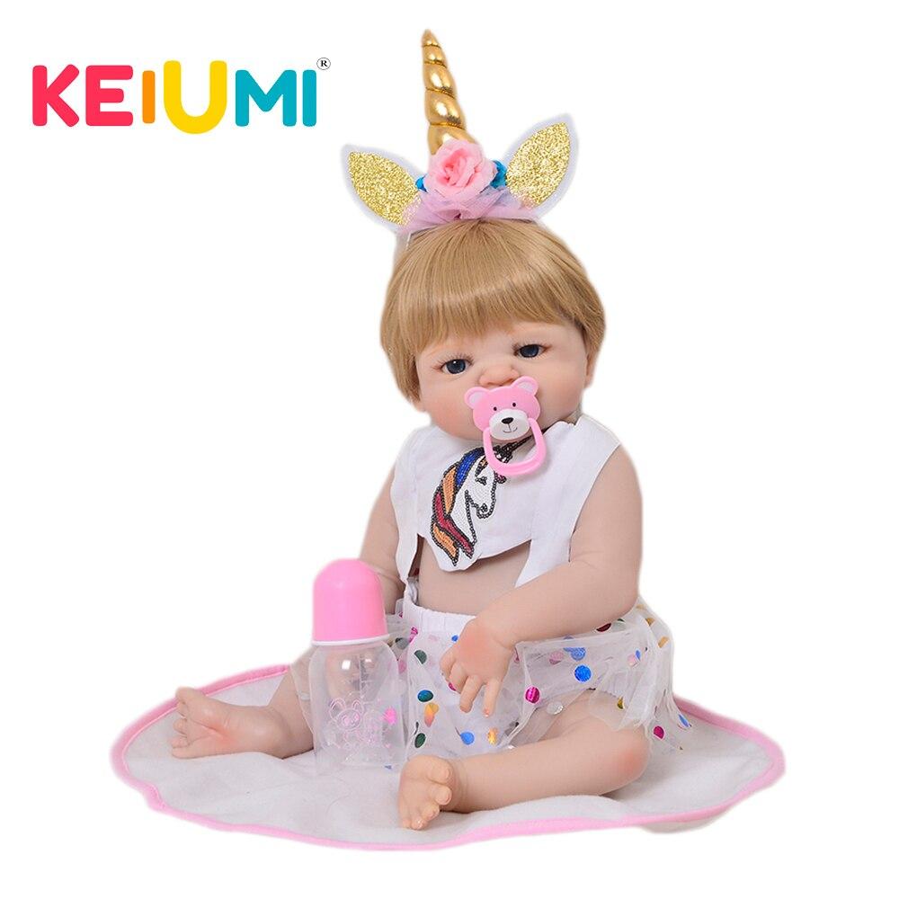 Bella 23 ''Silicone Pieno Bambole Del Bambino Rinato Bambole Della Ragazza di Modo di Cosplay Bambola Neonato Fortunato Animale Bebe Reborn Per Bambini Per Bambini regali