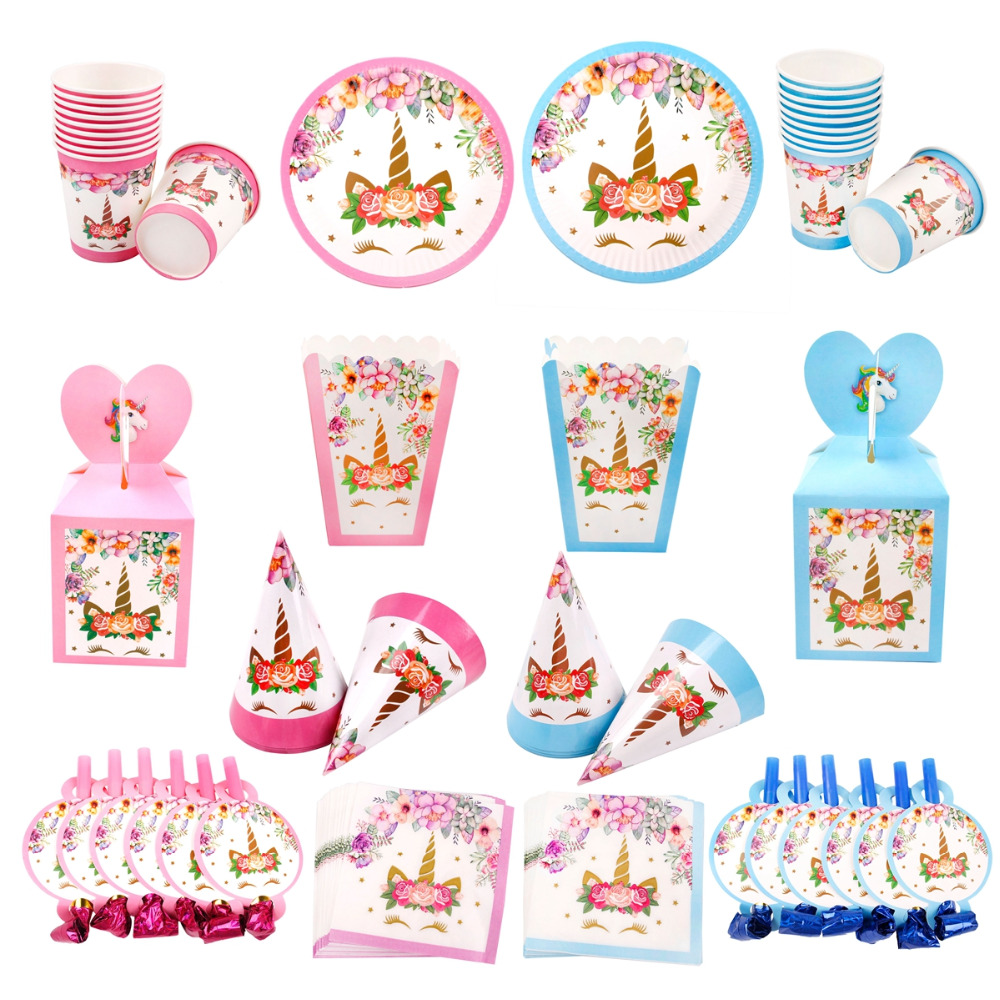 FENGRISE Unicorn Birthday Party Decoration Unicorn Game Baby Shower Unicorn Party Supplies Birthday Party Decorations Kids Favor in Party DIY Decorations from Home Garden