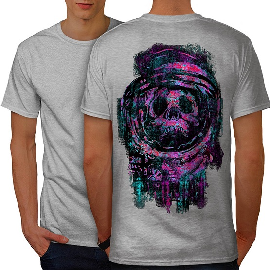 T Shirt Men 2018 Fashion Mens May Must Bob Cube Colourful Grease Skull Astronaut Space Men Grey S-3XL T-Shirt