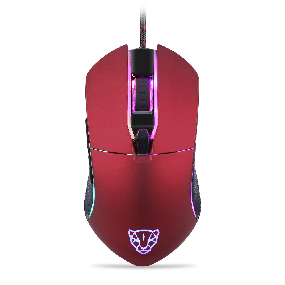 New Motospeed V30 Professional USB Wired Optical Gaming Mouse Adjustable 3500DPI Resolution RGB LED Backlight for PC Gamer купить в Москве 2019