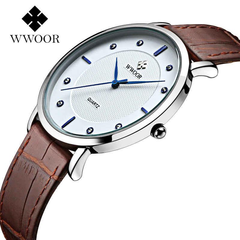 Relojes de marca de lujo para hombre con diseño ultrafino reloj de cuero auténtico impermeable para hombre, reloj deportivo informal, reloj de cuarzo para muñeca para hombre