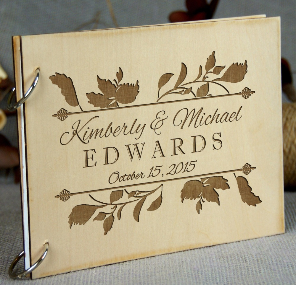 15 Amazing Wedding Guest Book Ideas: Personilized Bridal Shower Wedding Anniversary Birthday