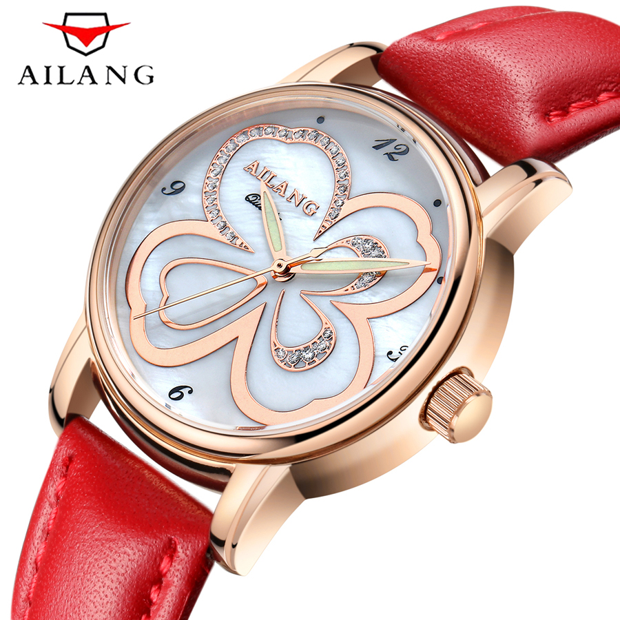 Fashion Casual Women Quartz Watch Waterproof Genuine Leather Watches Luxury Brand Rose Gold Wristwatch Clock For Ladies relogio binger genuine gold automatic mechanical watches female form women dress fashion casual brand luxury wristwatch original box