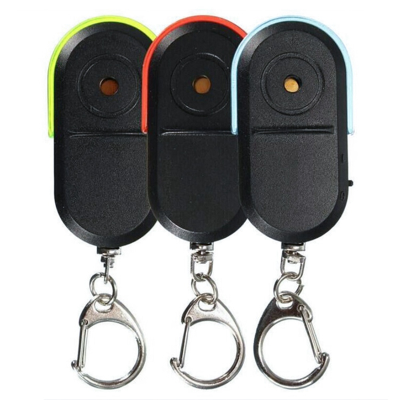 In Whistle Sound Led Light Anti-lost Alarm Key Finder Locator Keychain Device Fashionable Style;