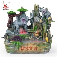 Interior decoration feng shui ball making water aquarium fish pond rockery fountain bonsai Fengshui round Zhaocai ornaments