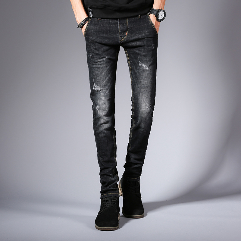Casual Spring Autumn Rapped  Strech 2019 Skinny Jeans Men