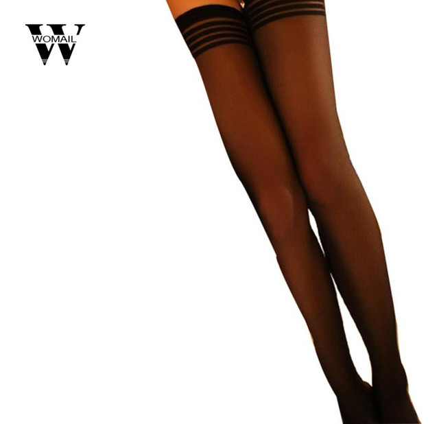 414c7843abf 2018 hot sale Women Sexy Trendy Sexy stripe Silk Stockings Overknee New  Arrival drop shipping Jan 23