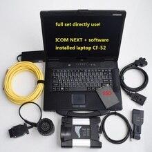 Инструмент для ремонта авто, полные кабели ICOM NEXT для BMW,12, версия программного обеспечения, 480G SSD, ноутбук, CF-52, автопрограммирование, диагностический сканер