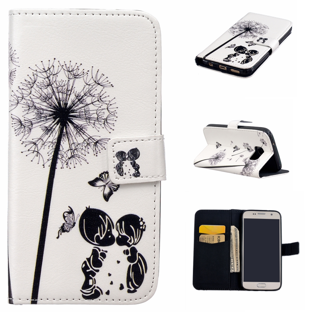 For Samsung Galaxy S7 Leather Cover Mobile Accessories Wallet Phone Cases For Samsung Galaxy S7 Stand Flip Book Style Coque