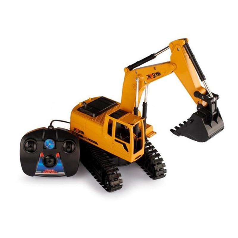 FARFEJI 1:28 Remote Control Tractor Toy Rc Excavator With Toy Tractors Remote Control Rc Dump Truckfarm Excavator Toys