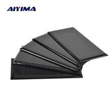 AIYIMA 5Pcs 5.5V Solar Panels Monocrystalline Sunpower Power Solars Regulator Charging Solar DIY Rechargeable Batteries 45x90mm