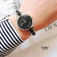 Kimio Marque Diamant Heures horloge femelle Dames en acier plein Argent Robe Femmes fille Montres À Quartz Bracelet Montre-Bracelet avec la boîte 450