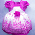 New Korean Girls Dress Flowral Lace Dress Colors Princess Dress