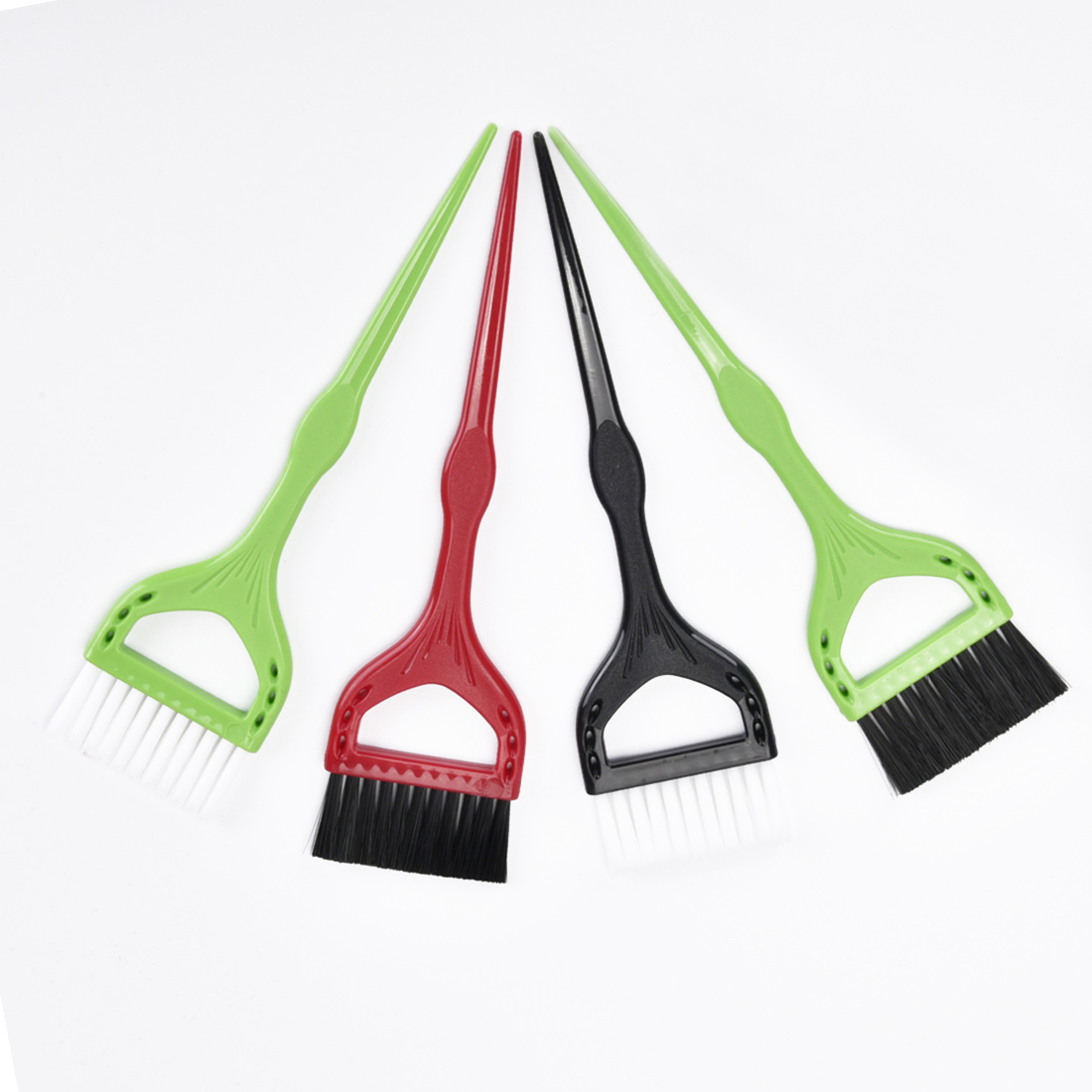 Plastic Dyeing Hall Hair Brushes Application Hall Hue Perm Lye Dye Coloring DIY Hairdressing Tool Combs Comb Tools