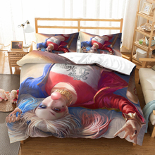 Suicide Squad Cartoon Harley Quinn 3D bedding set The Joker comforter sets bedclothes bed linen Batman