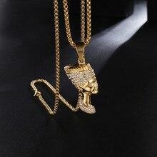 Мужские подвески в стиле хип-хоп, ожерелье с подвеской из нержавеющей стали, Модные Винтажные Портретные подвески, ювелирные изделия Хип-хоп, подарки
