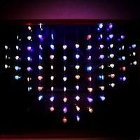 Ano novo! 2x1.5 m Coração Doce Cristmas Luzes LED Cortina Seqüência de Luz Decorações de Natal Guirlanda De Natal Levou Luces Navidad