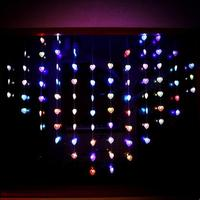 New Year 2x1 5m Sweet Hearts Cristmas Lights LED Curtain String Light Garland Led Christmas Decorations