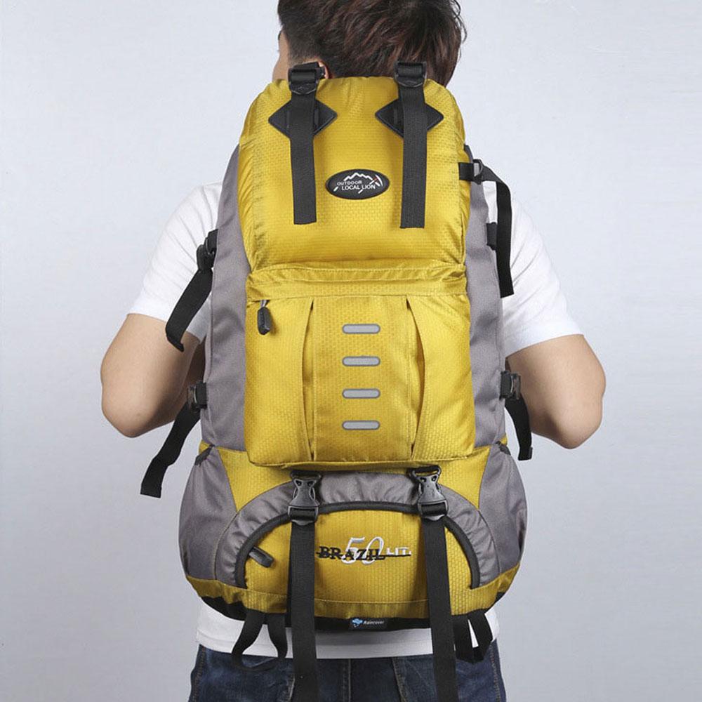 Waterproof Nylon Women Men Travel Hiking Backpack Camping Climbing Rucksack Mountaineering Hiking Cycling Outdoor Sports Bag