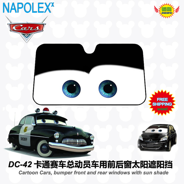 car accessories Cartoon Cars, front window sunshade Foils Windshield Visor Cover UV Protect Car window Film sun shade DC-42