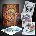 Colorful Chinese Tattoo Flash Book Tang Series Tranditinal Art Typical Sketch Popular Design A4 Size 80 Pages Manuscripts Hot