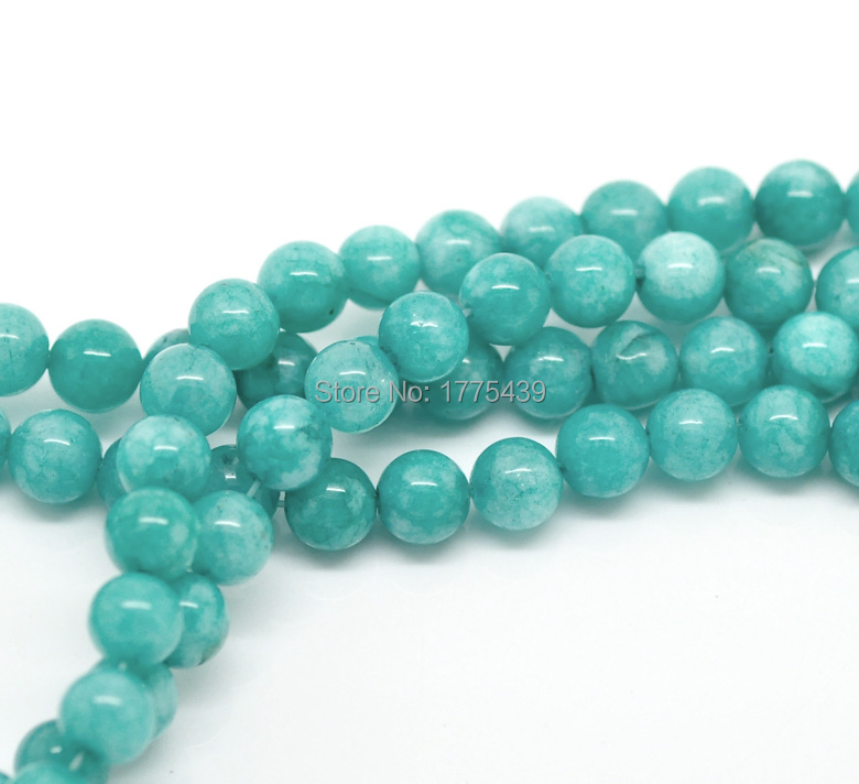 "Free Shipping Wholesale 4 6 8 10 12mm Natural Blue Amazonite Round loose stone jewelry Beads agat Beads 15"" DIY(China)"