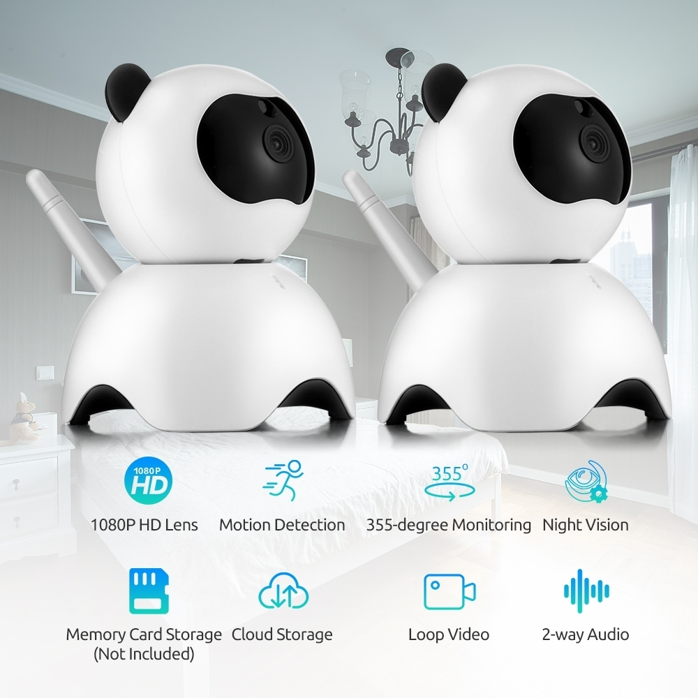 2 PCS Baby Monitor Home Security HD