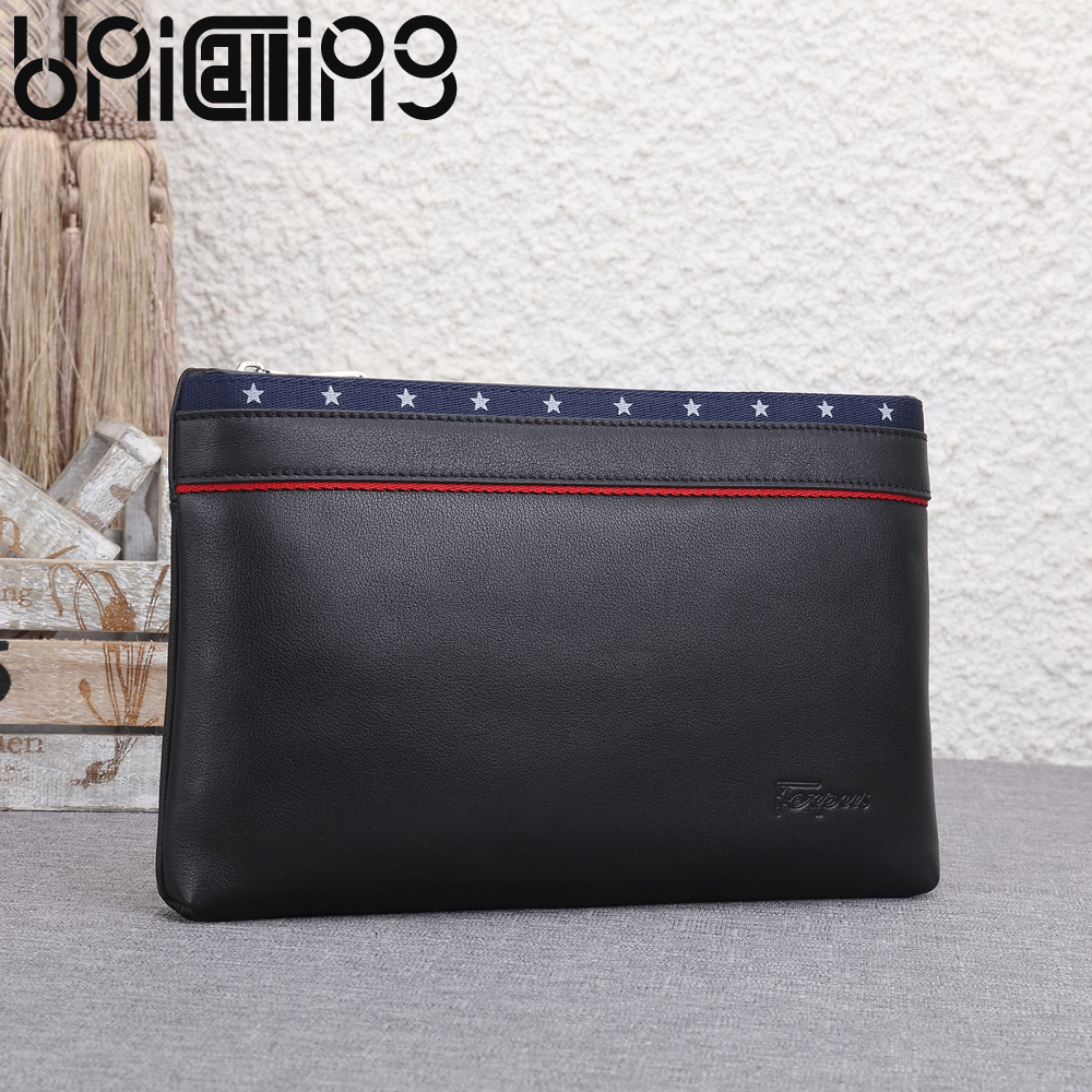 New Fashion European and American Style cow leather men bag Star pattern Large capacity Clutch bag genuine leather Soft bagNew Fashion European and American Style cow leather men bag Star pattern Large capacity Clutch bag genuine leather Soft bag