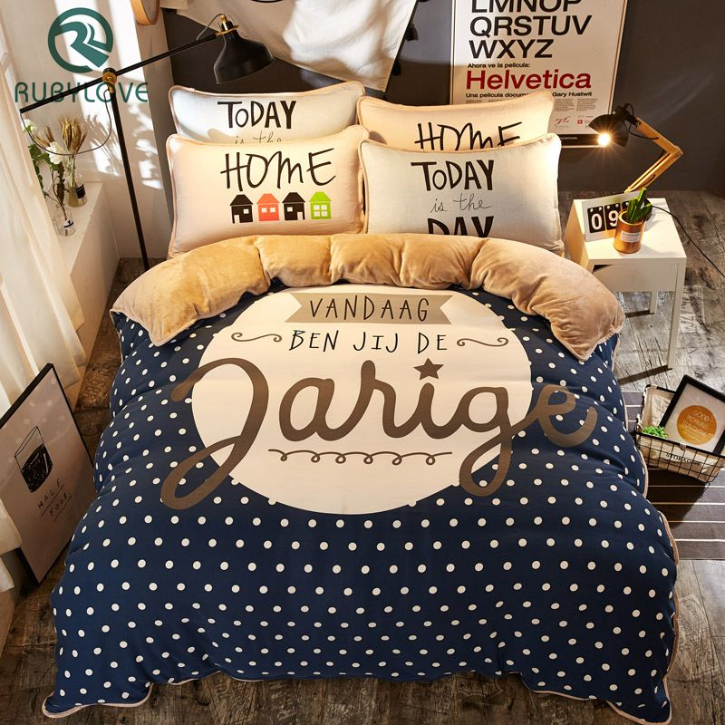 Flannel Cartoon Cute Animal Soft And Comfortable Bedding Set Duvet Cover Flat Sheet 4pcs Home Bedclothes Bed Linens