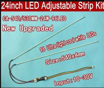"50PCS 23.6"" 530mm 50PCS 540mm 24"" Adjustable brightness led backlight strip kit,Update inch LCD ccfl panel to LED backlight"