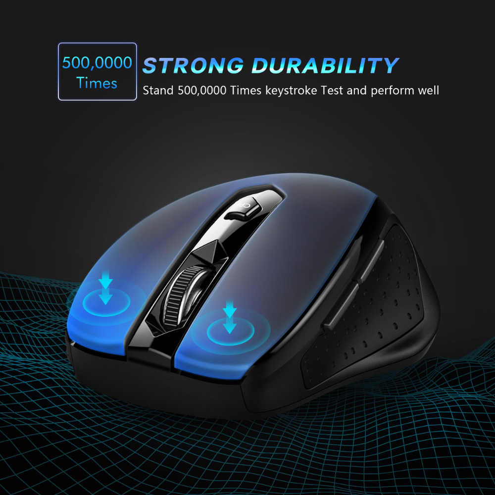 2 4G Wireless Mouse 6 Buttons Computer/Laptop Mouse Energe Saving Ergonomic  Mouse DPI Adjustable Gaming Mouse With Nano Receiver
