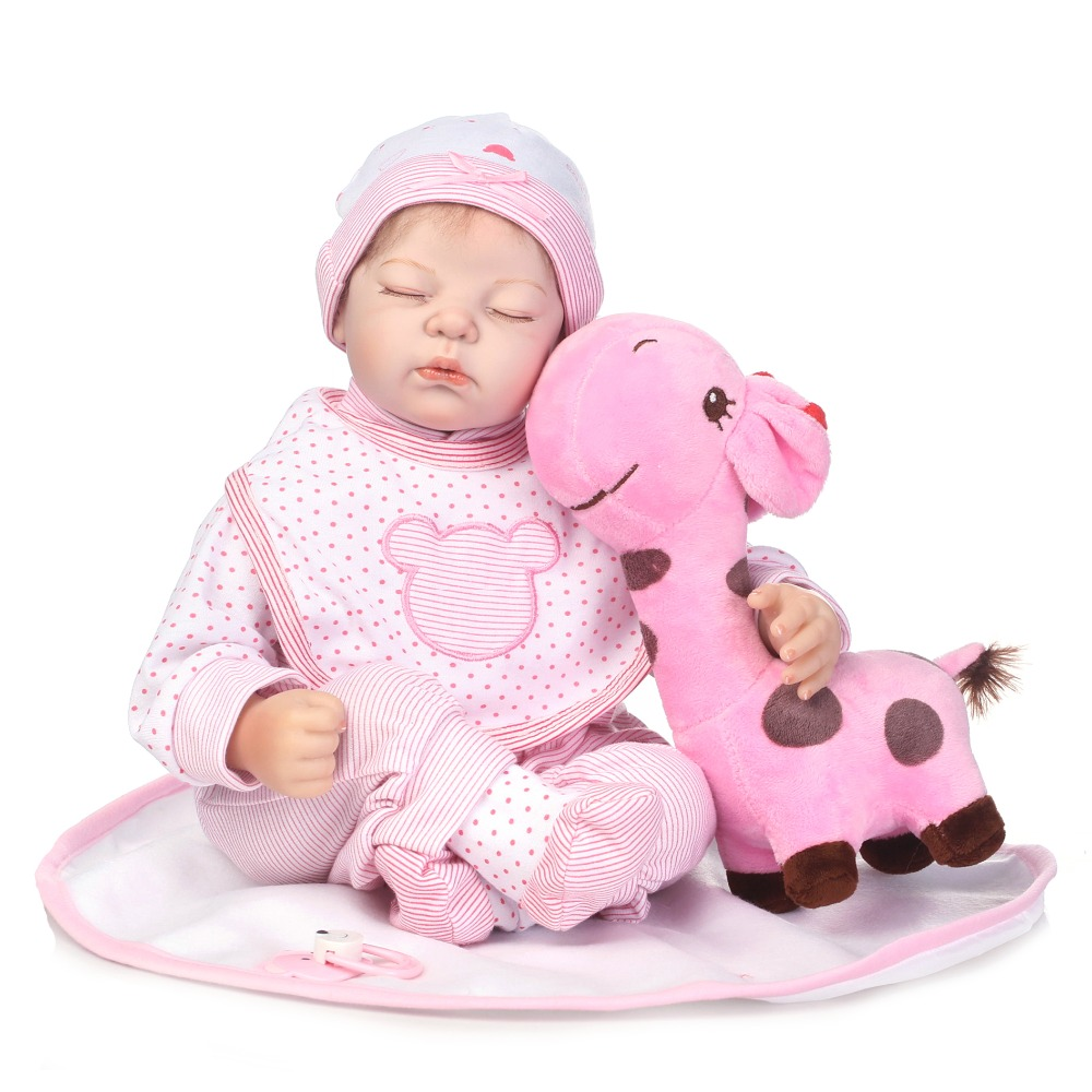 NPK new reborn babies silicone dolls 22 real sleeping new born boy girl dolls  educational toy dolls for child bonecasNPK new reborn babies silicone dolls 22 real sleeping new born boy girl dolls  educational toy dolls for child bonecas
